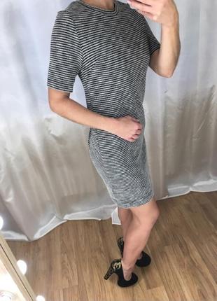 Прямое платье в полоску divided
