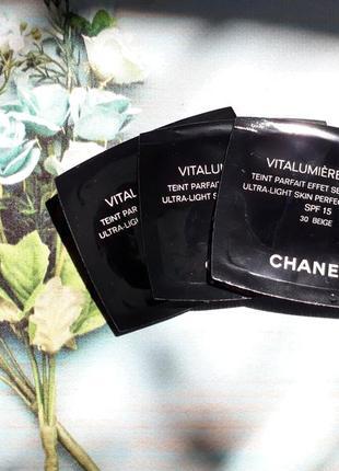 Пробник тональный флюид chanel vitalumiere aqua