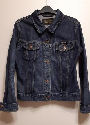 Крутая джинсовая курточка wrangler authentic western.
