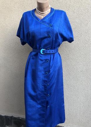 Винтаж,шелковое платье реглан,халат на застежке,большой размер