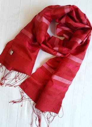 Mai savanh lao брендовый шелковый шарф#палантин ручной работы, 100% шелк.