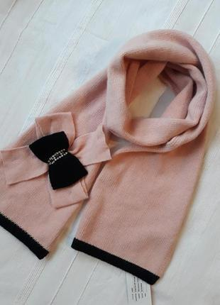 Alice hannah новый#брендовый#шерстяной#пудровый теплый шарф#шарфик, шерсть ягнят#ангора.