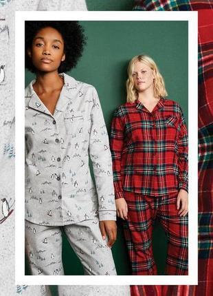 Теплая фланелевая пижама s-m 38, 40 euro, primark, испания