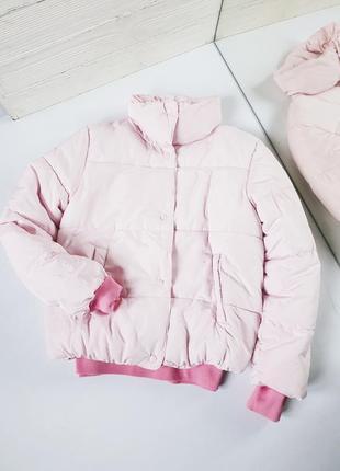 Куртка паффер на кнопках дутик коротний