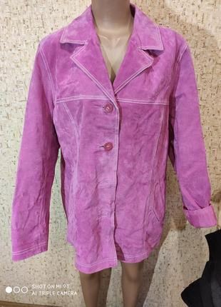 Замшевая куртка 52-54 размер
