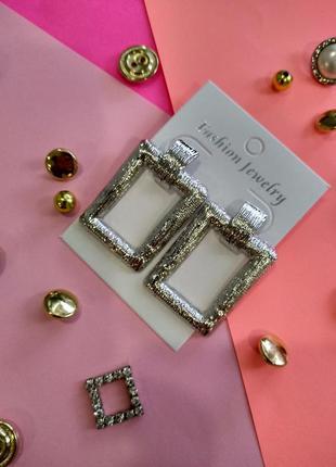 Женские серьги, цвет серебро