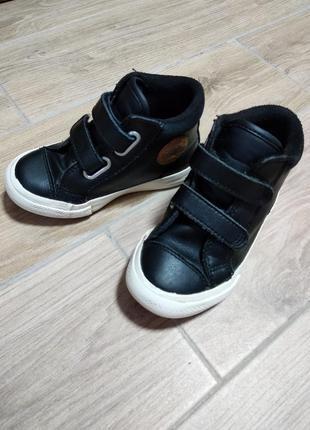 Converse кожаные утеплённые кеды ботинки