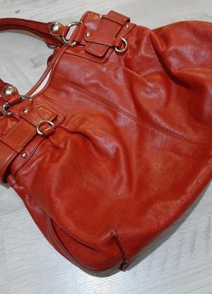 Большая кожаная сумка dkny