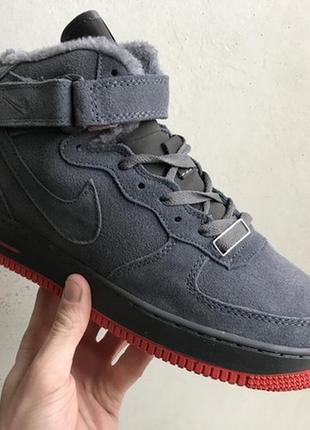 На меху! черевики nike air force ботинки зимние