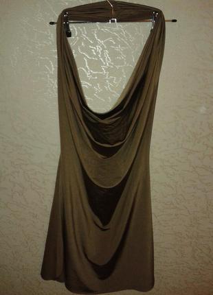 Платье-туника с открытой спинкой