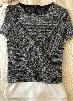 Кофта с имитацией блузки
