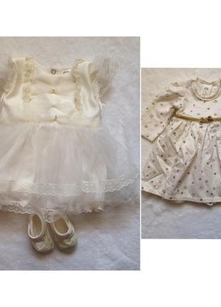 Комплект, сукня для хрещення,хрестини