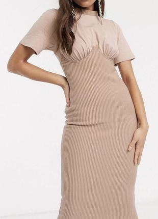 Платье миди с корсетом