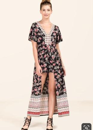 Длинное платье-ромпер francesca's