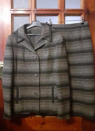 Твидовый костюм класса премиум 100% шерсть мериноса  донегал  из ирландии