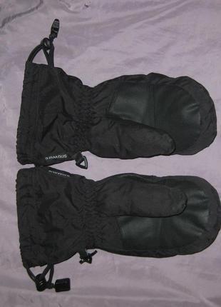 Крутые зимние варежки - рукавицы snowlife на мембране и флисе, очень теплые