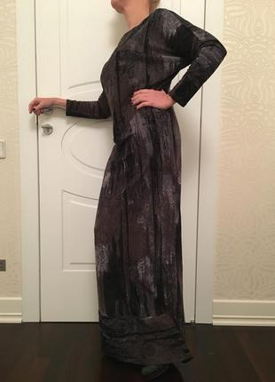 Платье вечернее в пол бархатное
