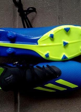 Футбольные бутсы adidas x 18.3 fg m da9335.