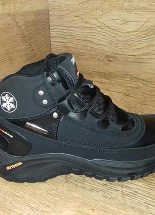 Зимние кожаные детские ботинки restime р. 36 37 38 полномерные натуральная кожа