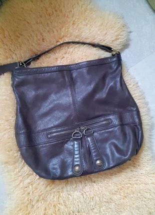 Сумочка сумка-мешок натуральная кожа