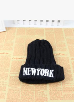 13-9 стильная вязаная шапка new york