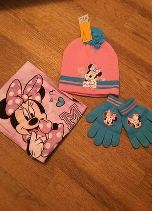 Шапка,снут и перчатки