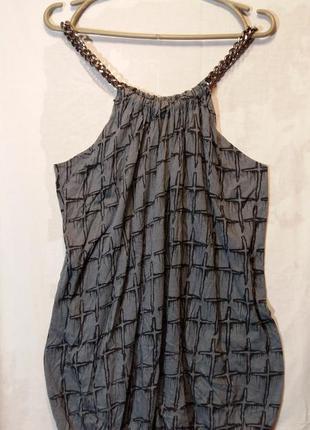 Идеальное трикотажное мини платье с цепью и c принтом religion для вечеринки хлопок 8 10