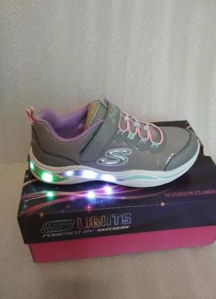 Skechers кроссовки для девочки с мигалками, р. 32, 33, 35