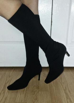 Сапоги носки с длинным носом туфли чулки