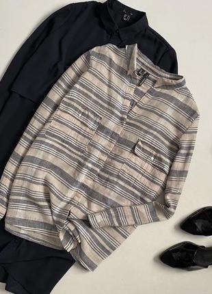 Крутая рубашка в полоску mango