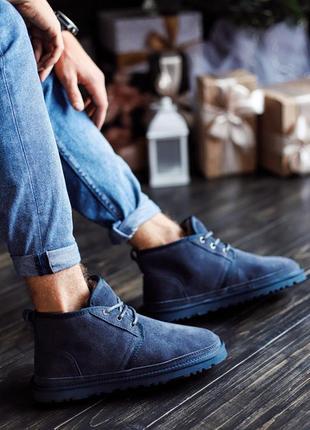 Мужские зимние ботинки с мехом ugg men's neumel boot chestnut
