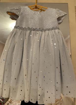 Нарядное платье monsoon на 1-2,5 года