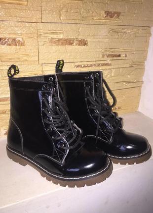 Шикарные новые лаковые ботинки