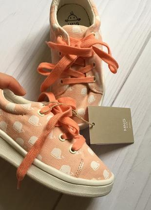 Новые кеды кроссовки для девочки mango 23-24 размер
