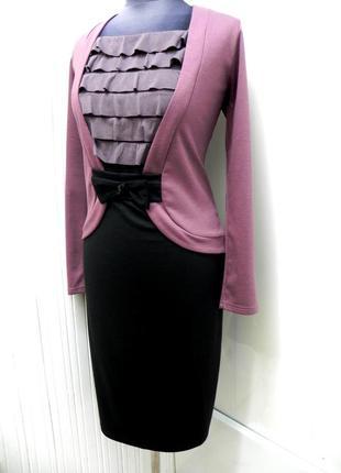 Трикотажное платье 52-54