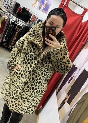 Шуба шубка леопардовая asos большого размера