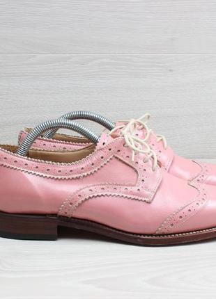 Женские кожаные туфли броги grenson england, размер 37 - 38