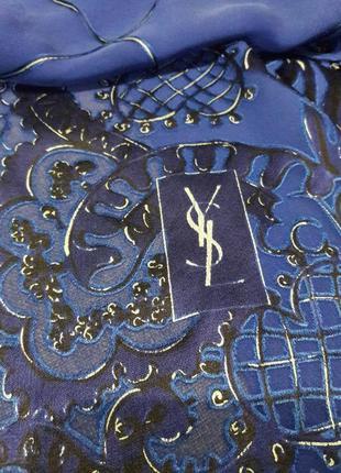 Винтажный шелковый шарф,платок ysl.