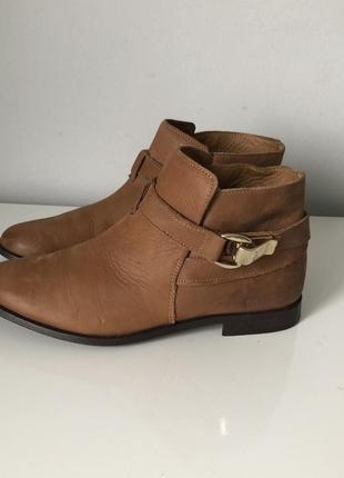 Кожаные полуботинки ботинки zara
