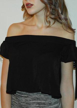 Новая шифоновая блуза топ с открытыми плечами от missguided