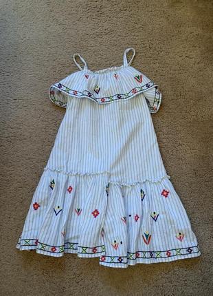 Катоновое платье от zara