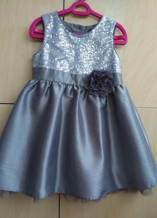 Нарядное платье george на 2-3 года