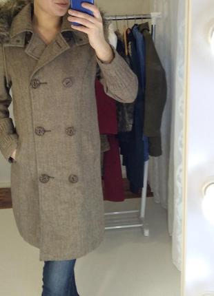 Marks&spenser новое шерстяное пальто