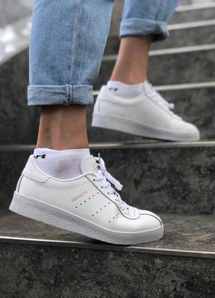 Шикарные женские кожаные кроссовки adidas topanga white 😍 (весна/ лето/ осень)