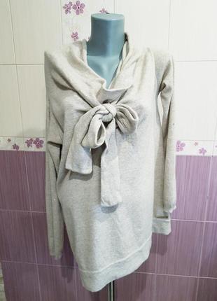 Шерстяной свитер ангора шерсть ламы котфа twin set оригинал необычныц фасон