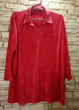Рубашка,блуза гофре/очень большой размер