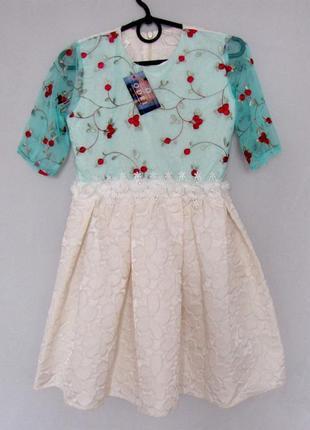 Р.128-152 распродажа! детское платье анюта