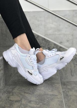 Шикарные женские кроссовки adidas falcon white 😍 (весна/ лето/ осень)