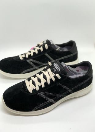 Чёрные кроссовки, мокасины из натуральной замши бренд