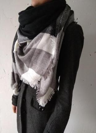 Шерстяной шарф/платок/плед